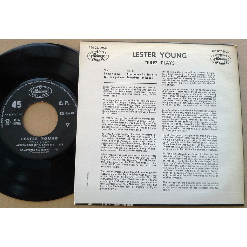 Lester Young Prez plays
