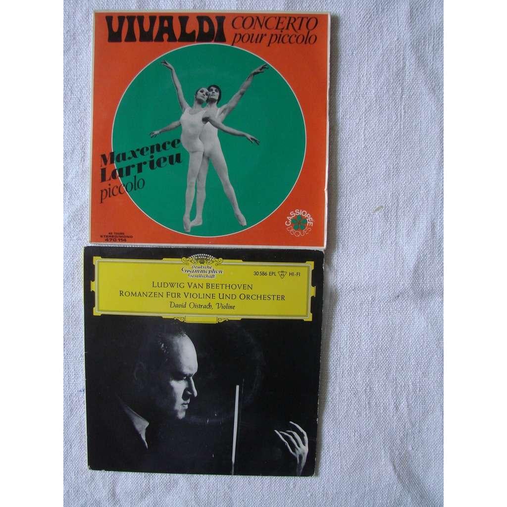 Maxence Larrieu - David Oistrakh Vivaldi : concerto pour piccolo - Beethoven: romance pour violon
