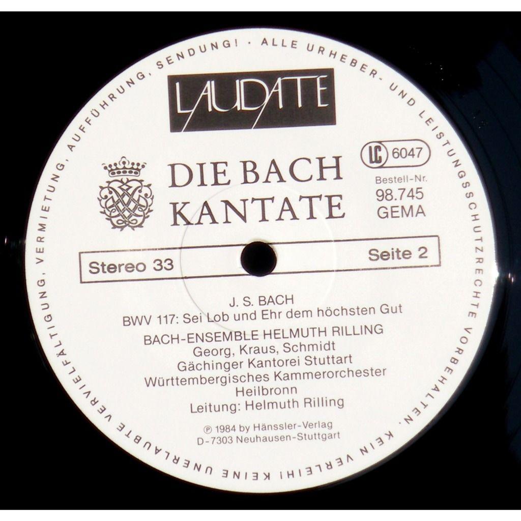 Bach Rilling Cantates 117 & 174