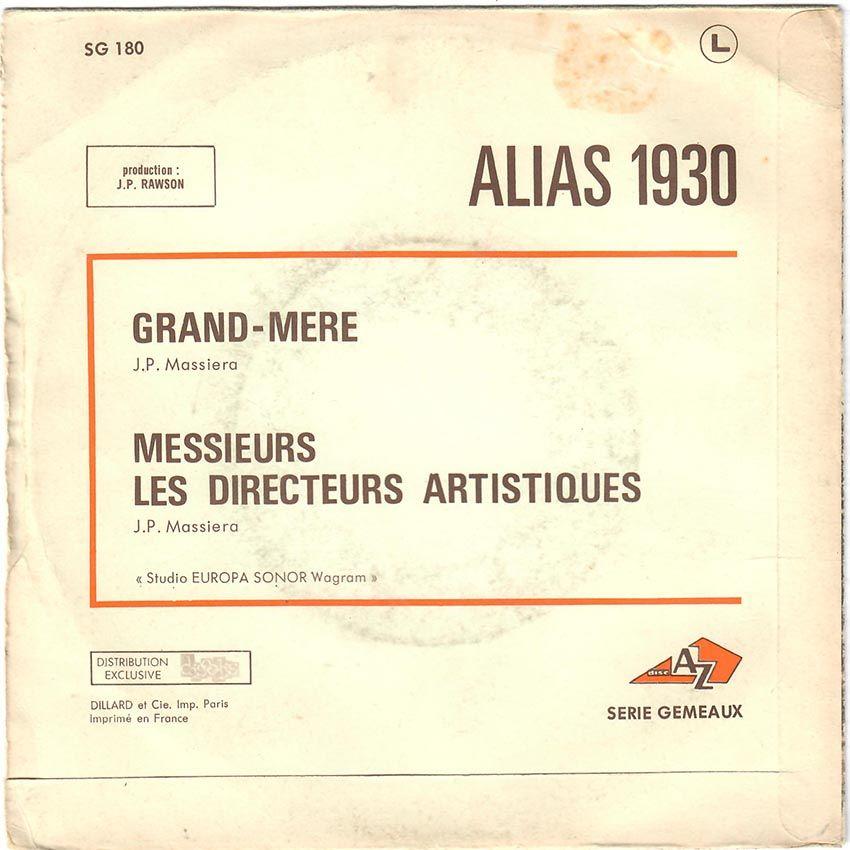 Alias 1930 (Les Sales Gosses) Grand-Mère / Messieurs Les Directeurs Artistiques