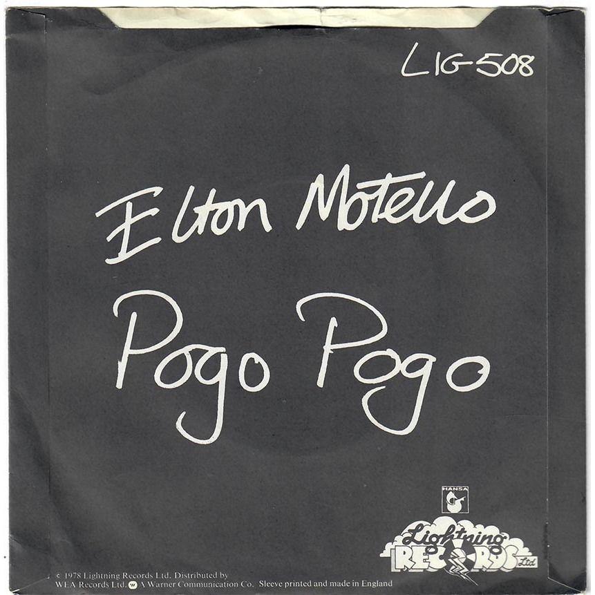 elton motello Jet Boy Jet Girl / Pogo Pogo