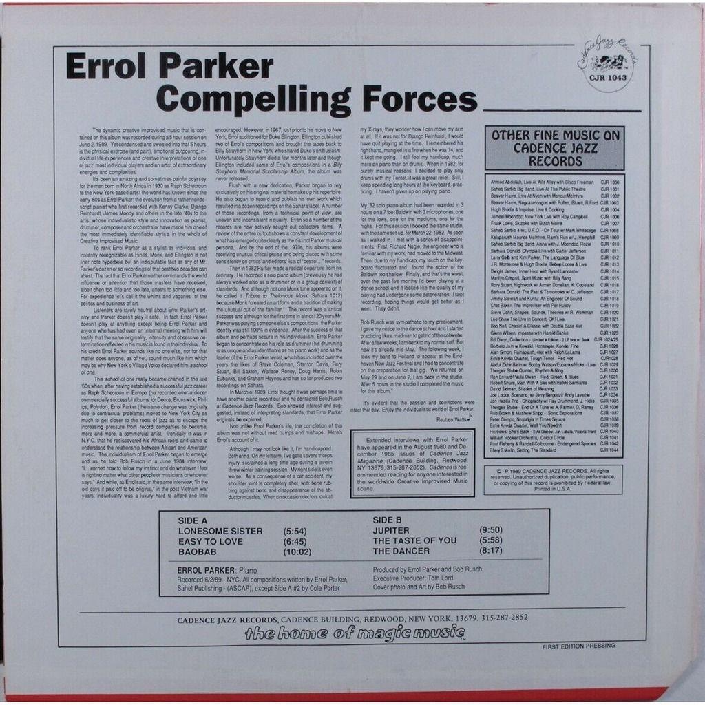 Errol Parker Compelling Forces