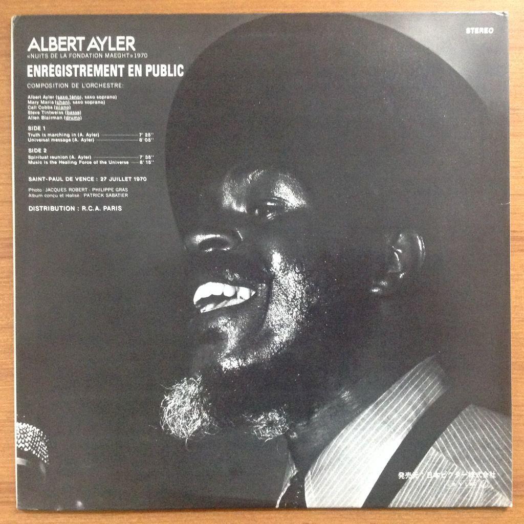 Albert Ayler Mary Maria Allen Blairman Tintweiss Nuits De La Fondation Maeght Volume 2