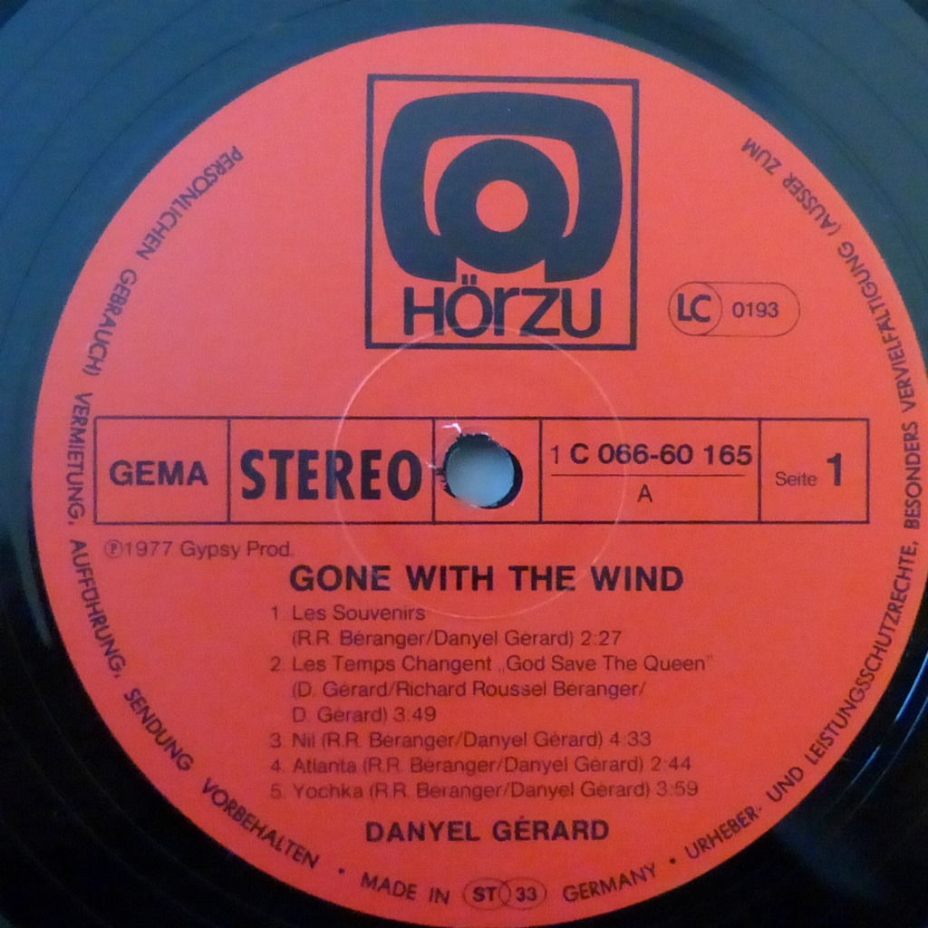 DANYEL GERARD GONE WITH THE WIND