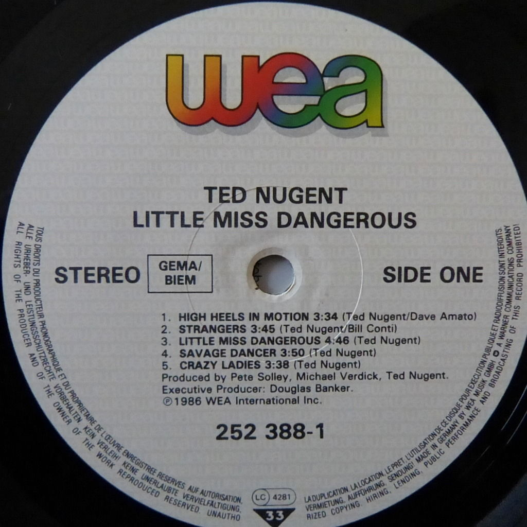 TED NUGENT LITTLE MISS DANGEROUS