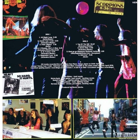 Scorpions Live In Tokyo Japan 1978