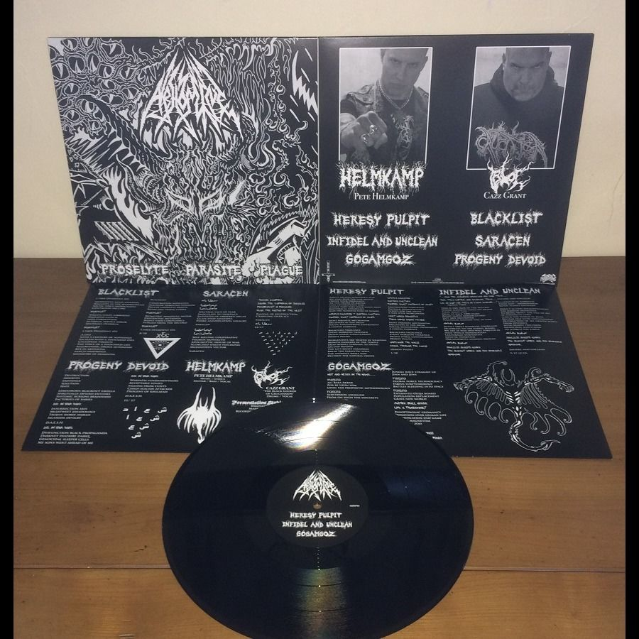 ABHOMINE Proselyte Parasite Plague. Black Vinyl