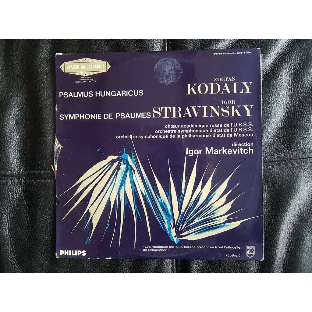 zoltan kodaly/igor stranvinsky/igor markevitch... psalmus hungarius/symphonies de paumes