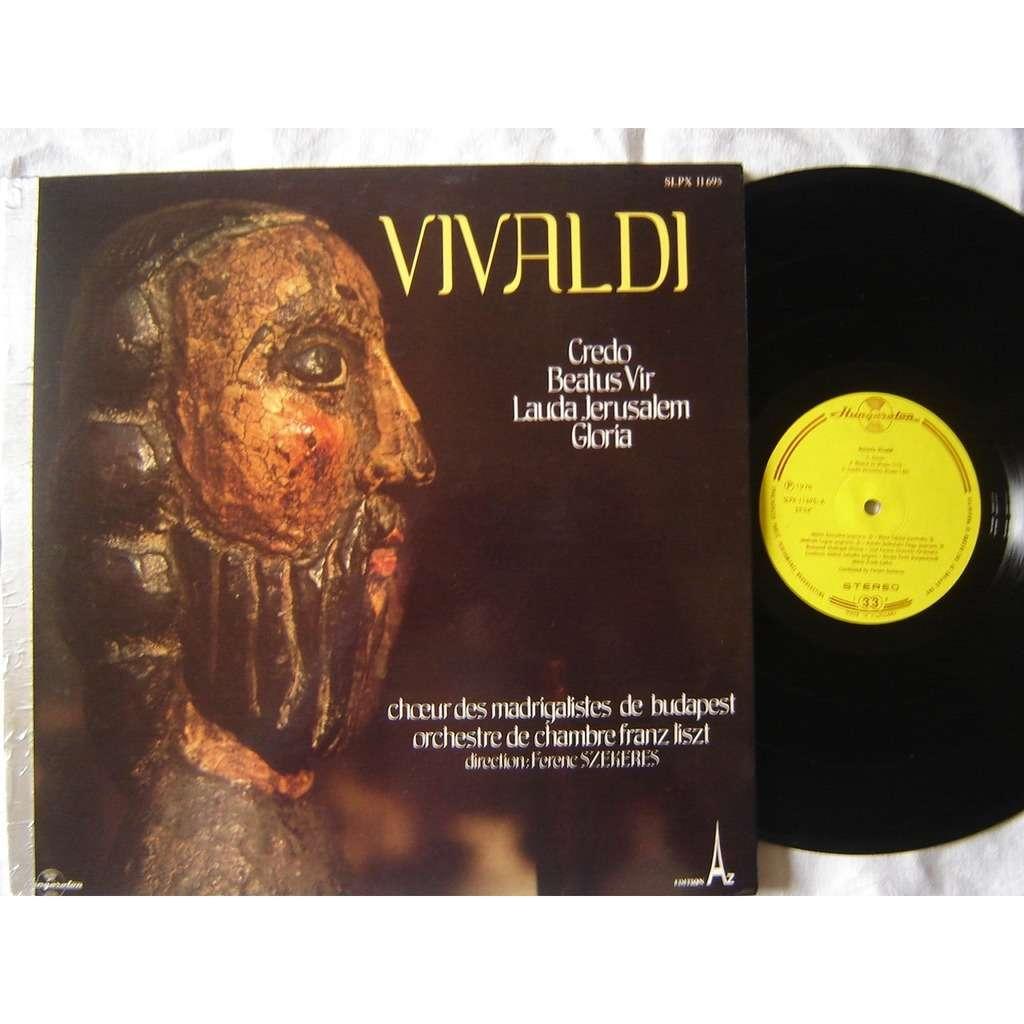Choeurs madrigalistes de Budapest - Orch F. Liszt Vivaldi : credo , beatus vir , lauda jerusalem , gloria