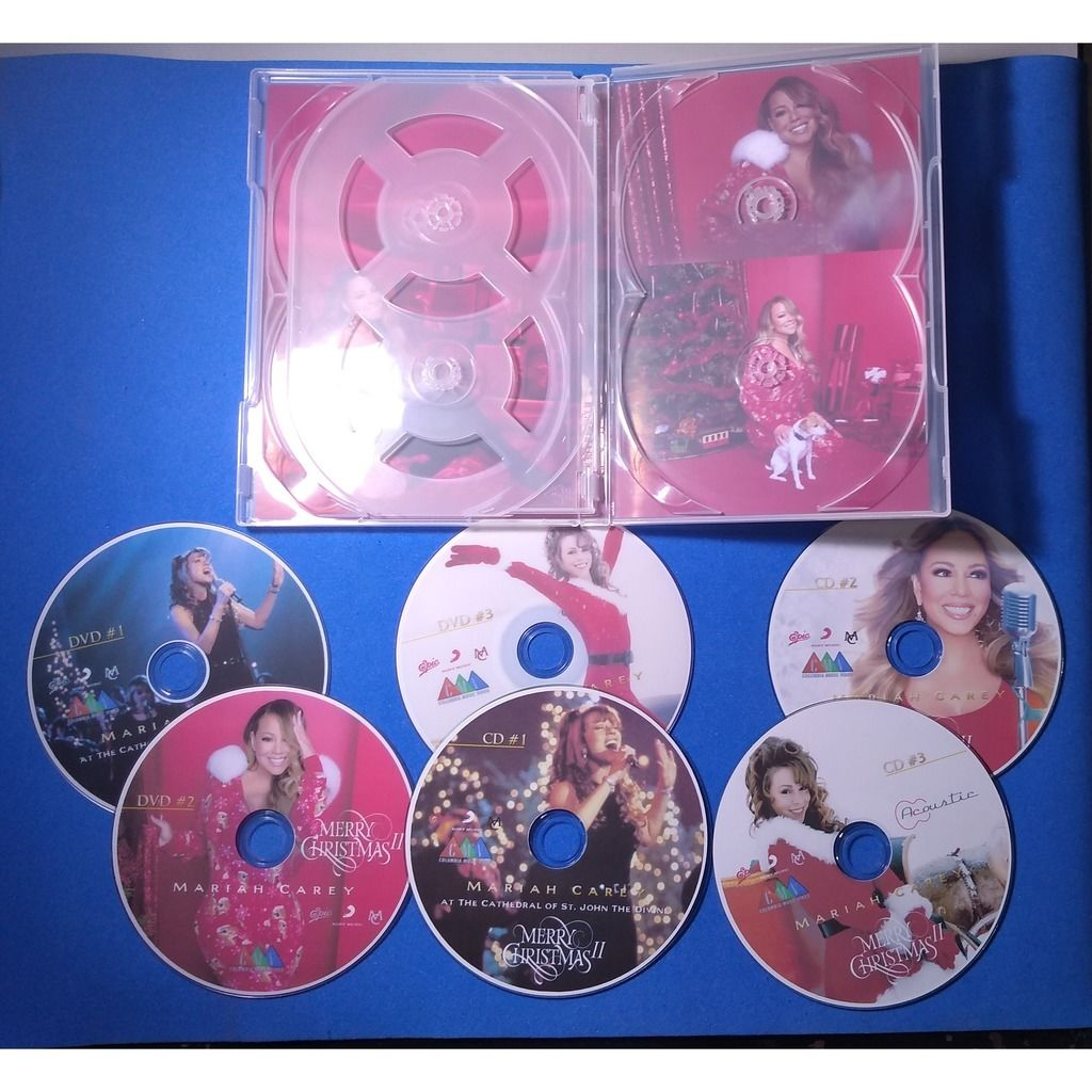mariah carey Merry Christmas II pack 6 discs (3 CDs + 3 DVDs) (Brazil release 2020, very rare )