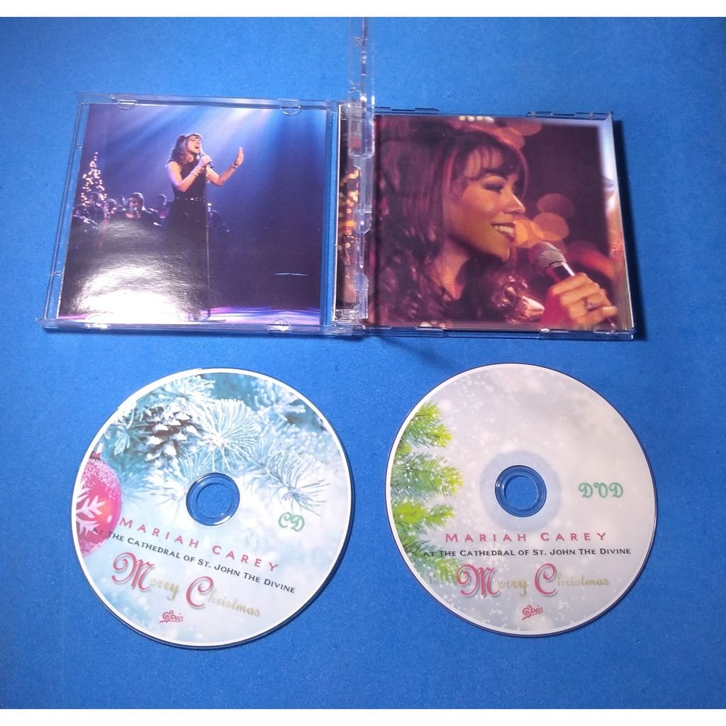 mariah carey Merry Christmas - Cathedral St. John DVD + CD - Acrilic case (Brazil release 2020, very rare )