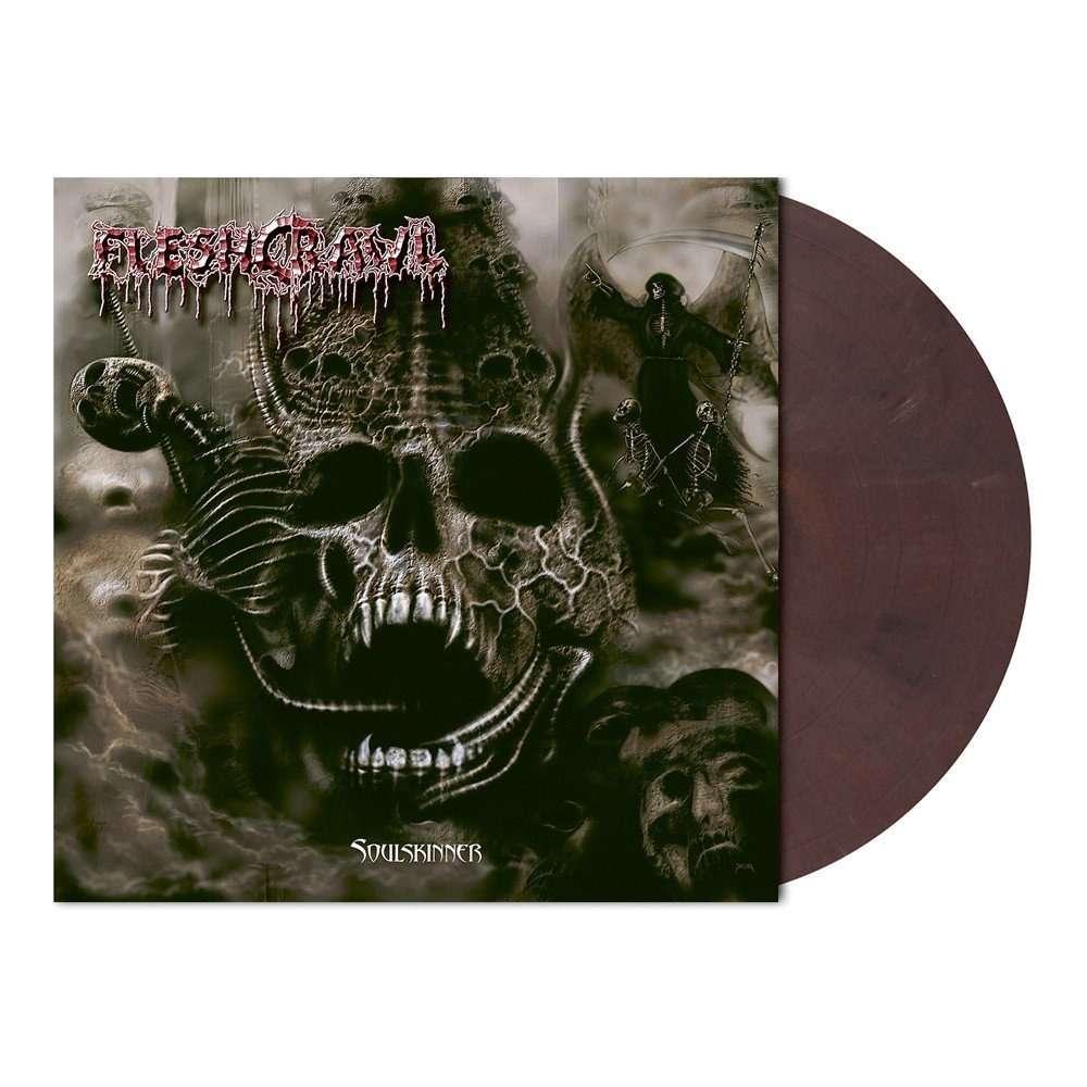 FLESHCRAWL Soulskinner. Oxblood Marble Vinyl