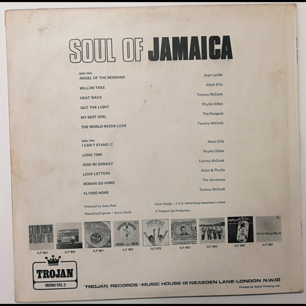 Alton Ellis/Paragons/Phyllis Dillon Soul Of Jamaica (Rocksteady)