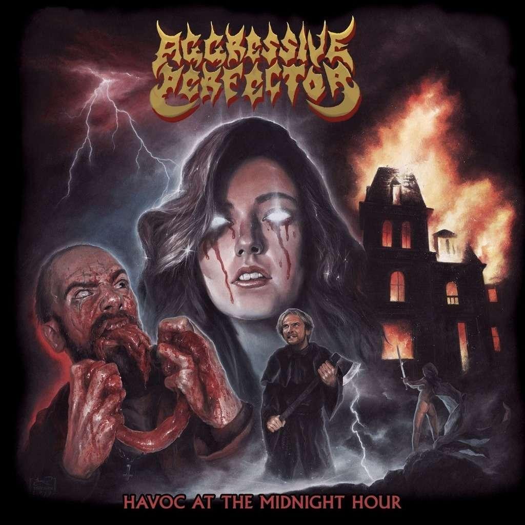 AGGRESSIVE PERFECTOR Havoc At The Midnight Hour. Black Vinyl