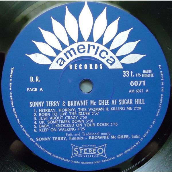 Sonny Terry And Brownie Mc Ghee At Sugar Hill live recording in San Francisco