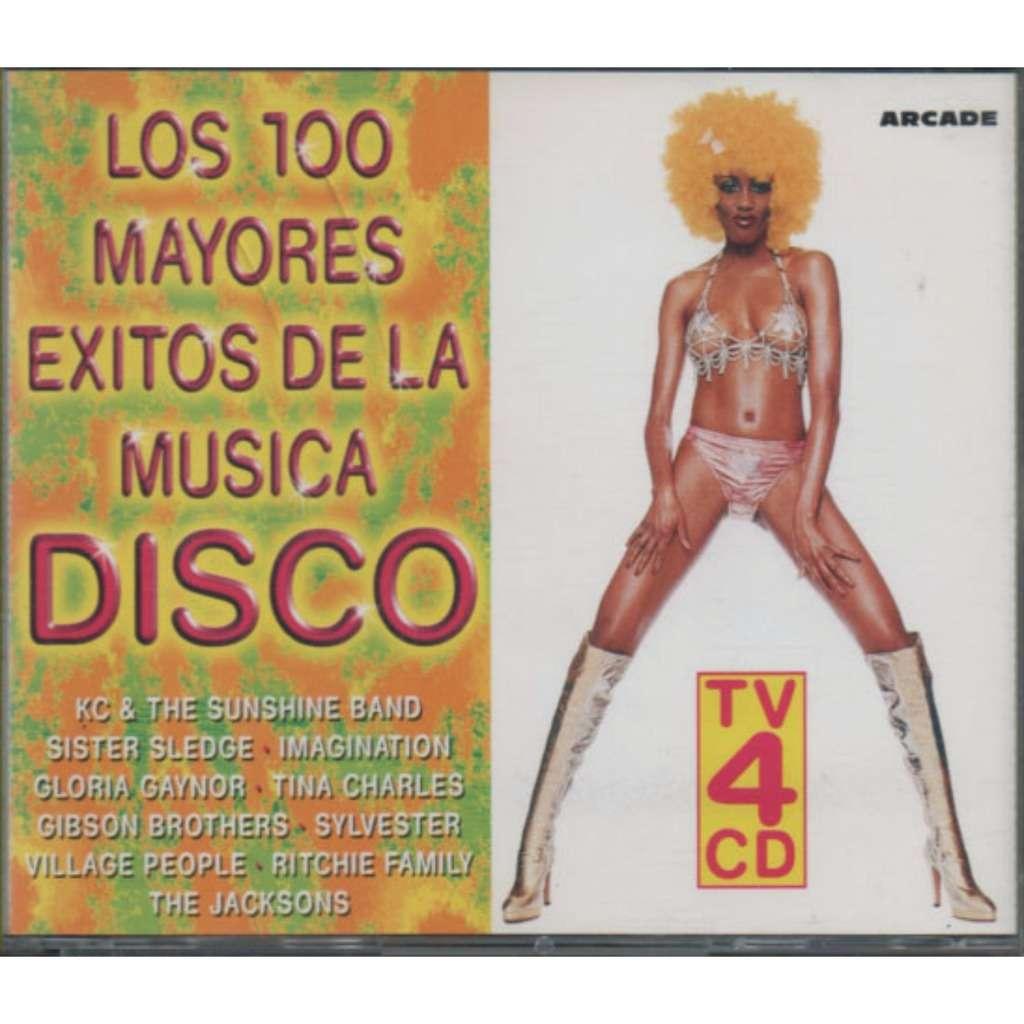 LOS 100 MAYORES EXITOS DE LA MUSICA DISCO TV 4 CD