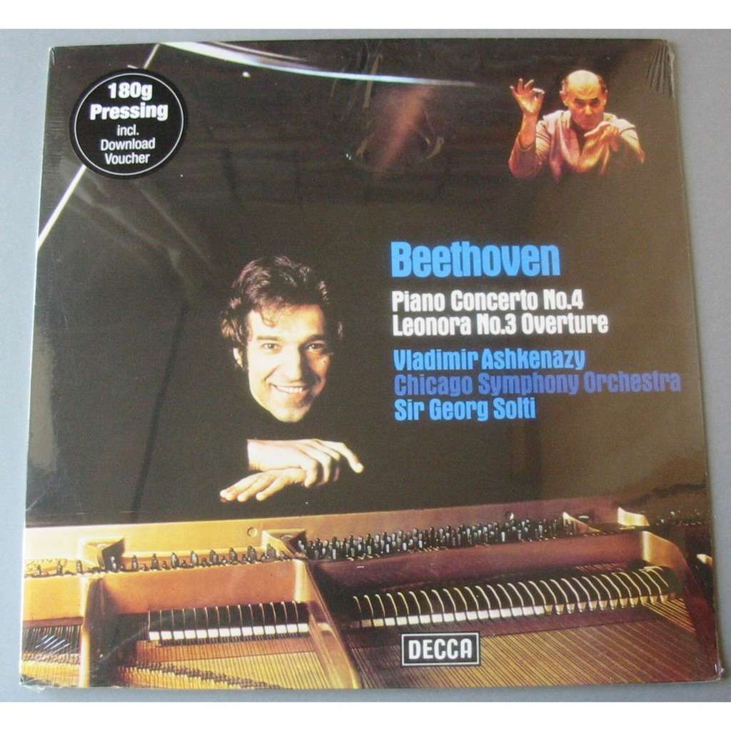 ASHKENAZY BEETHOVEN SOLTI PIANO CONCERTO N°4 LEONORA N°3 OVERTURE