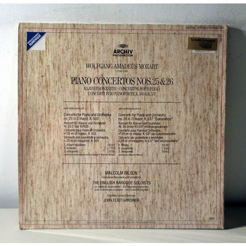 MALCOLM BILSON & JOHN ELIOT GARDINER MOZART Piano concertos n°25 & 26