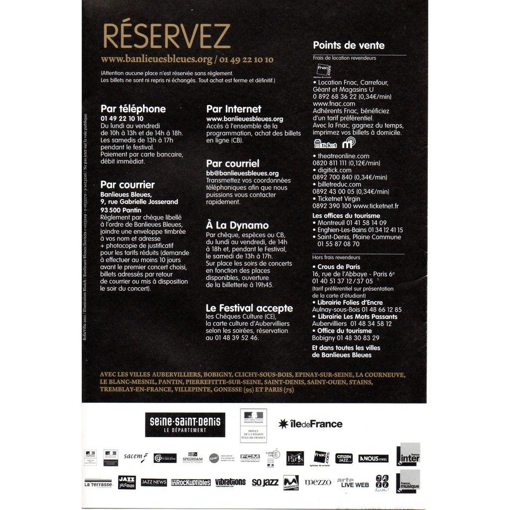 mccoy tyner, matana roberts, marc ribot, ray lema programme festival banlieues bleues 2012