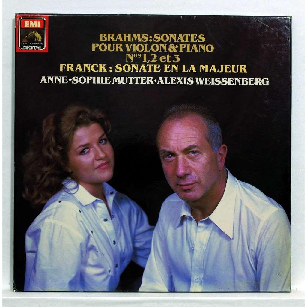 Anne-Sophie Mutter / Alexis Weissenberg Brahms : sonatas for violin & piano nos.1, 2 & 3 / Franck : sonata in A major