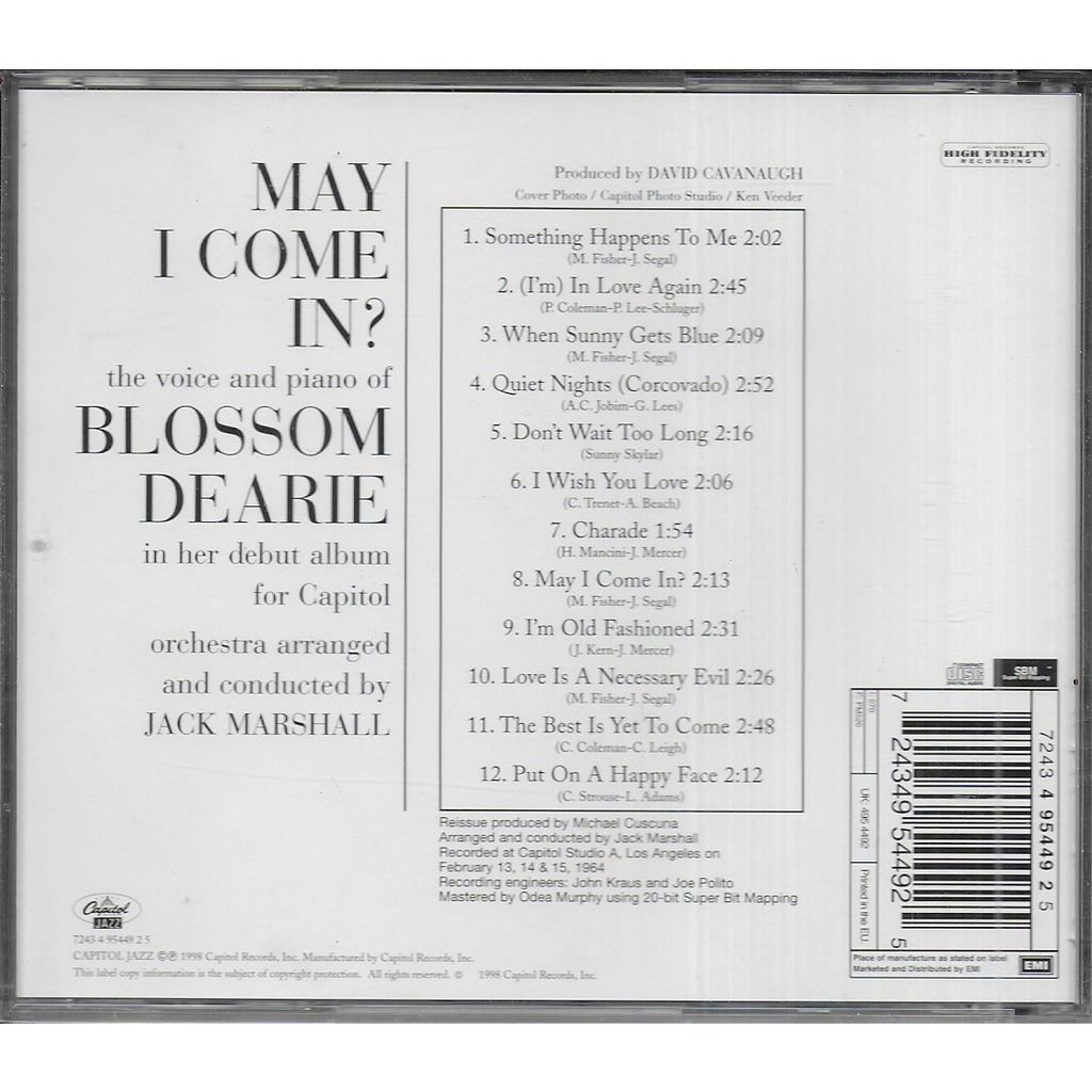 Blossom DEARIE May I Come In ?