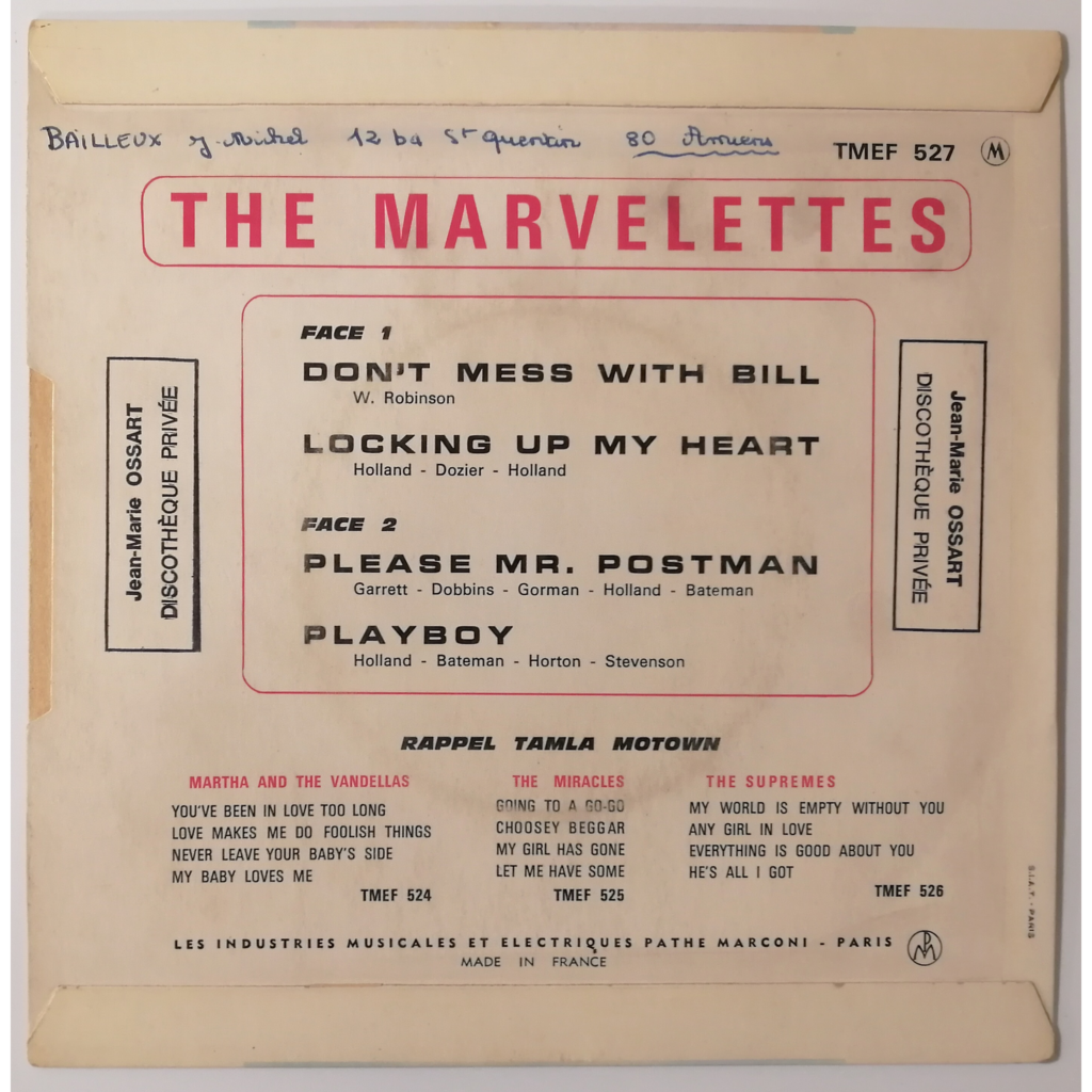 Marvelettes - Don't Mess With Bill Don't Mess With Bill +3 (motown)