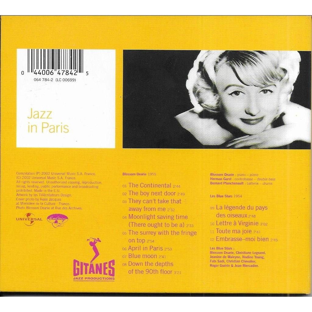 Blossom DEARIE / Les Blue Stars The Pianist