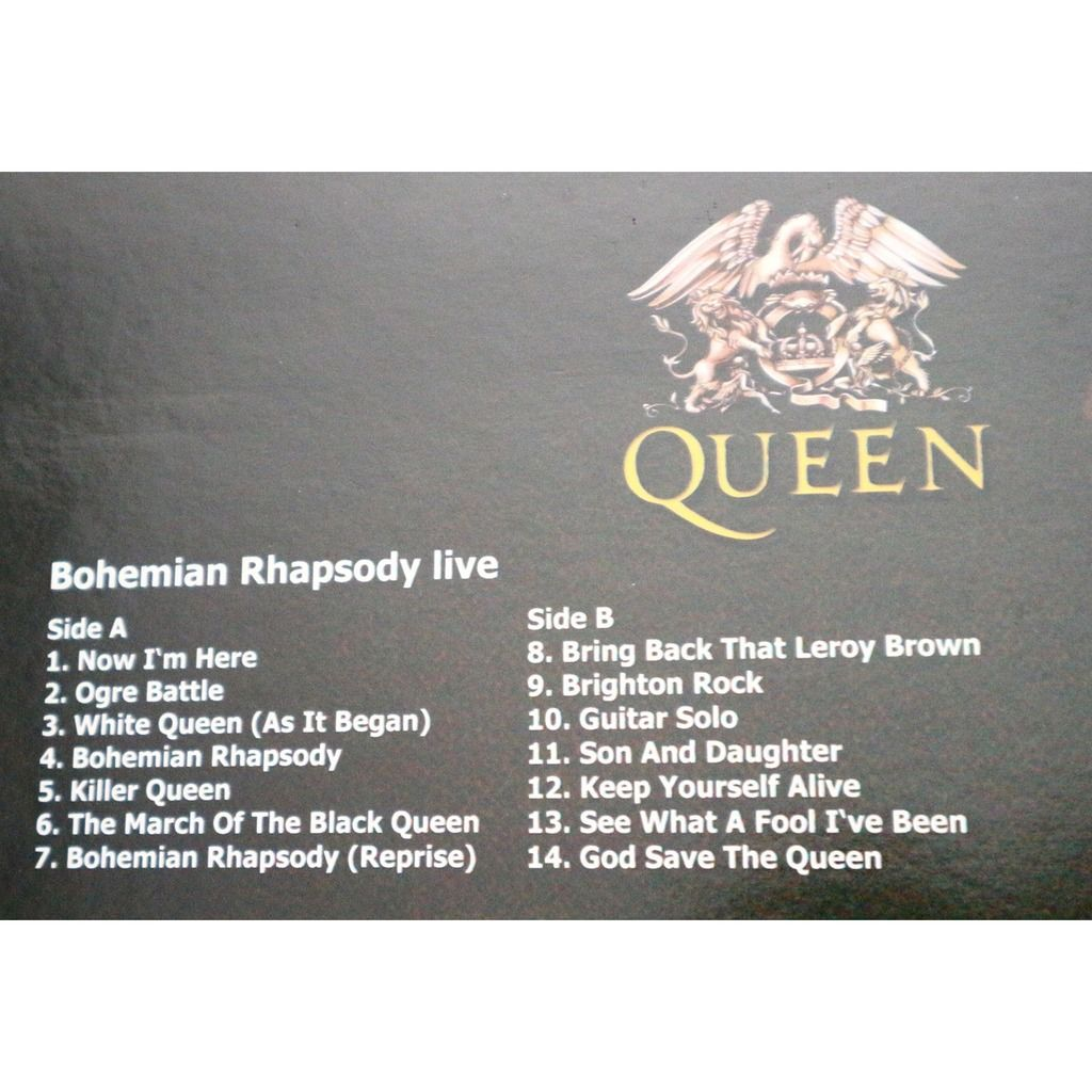 Queen Bohemian Rhapsody Live / Hammersmith Odeon London 24.12.1975 / Special ltd picture disc