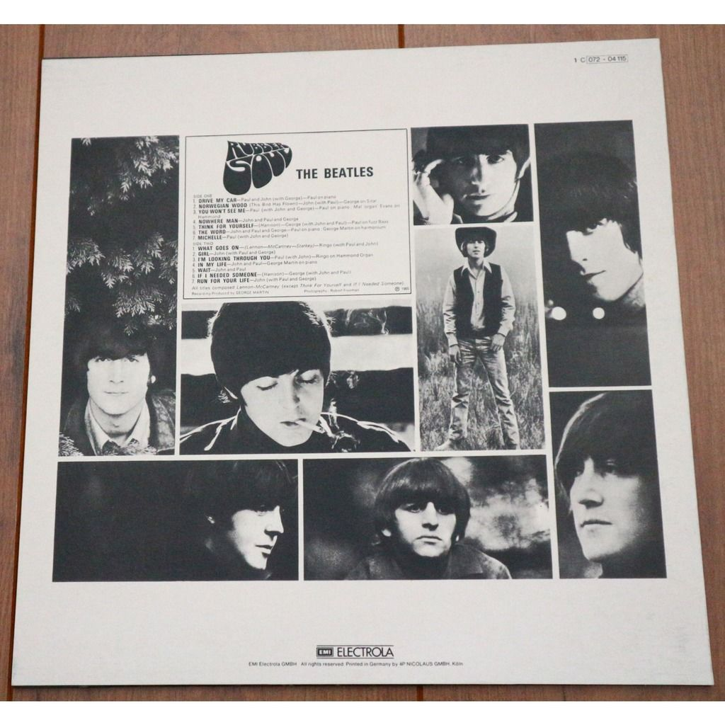 The Beatles Rubber Soul / on brown vinyl