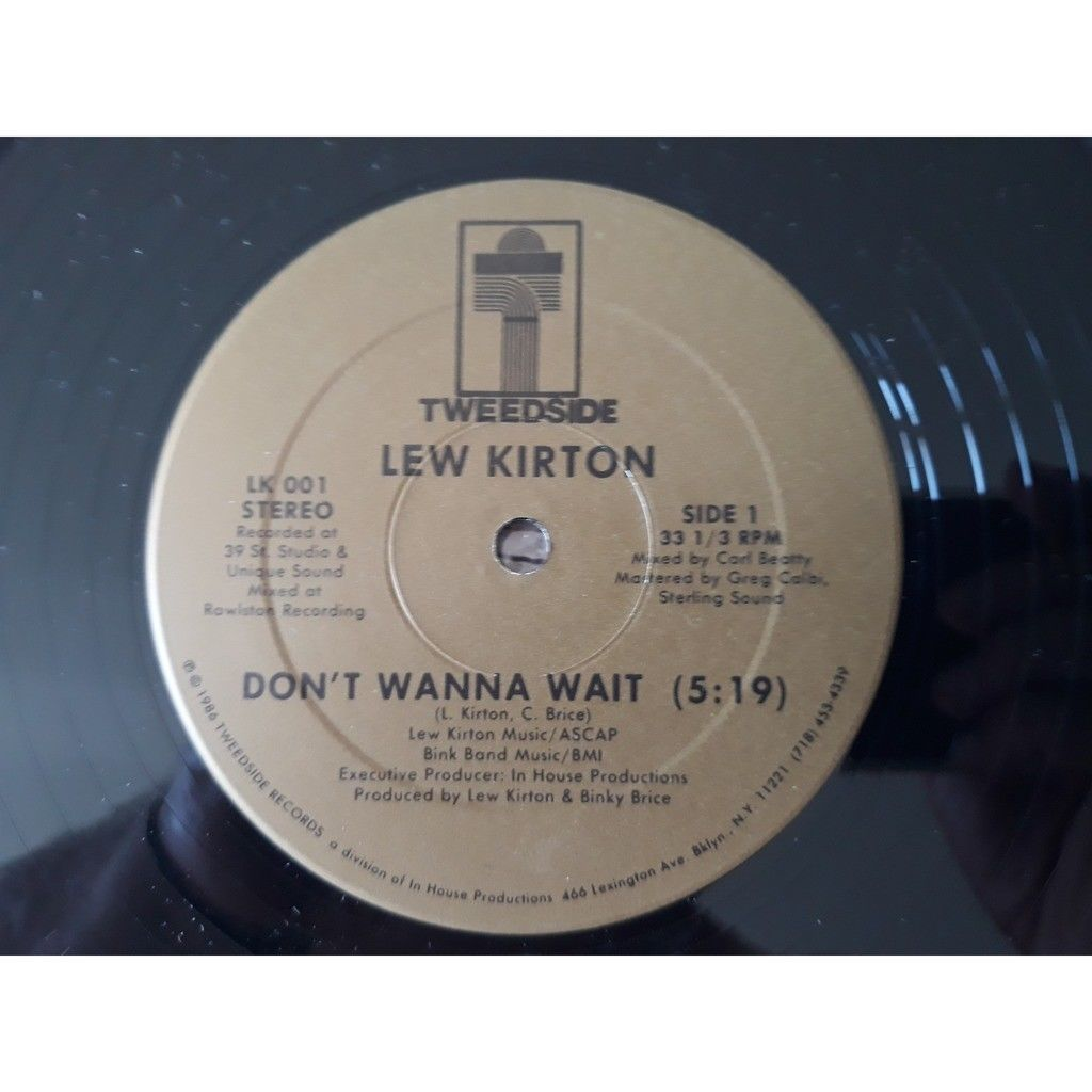 Lew Kirton - Don't Wanna Wait / Stuck In The Middl Lew Kirton - Don't Wanna Wait / Stuck In The Middle (Between Two) (12)1986