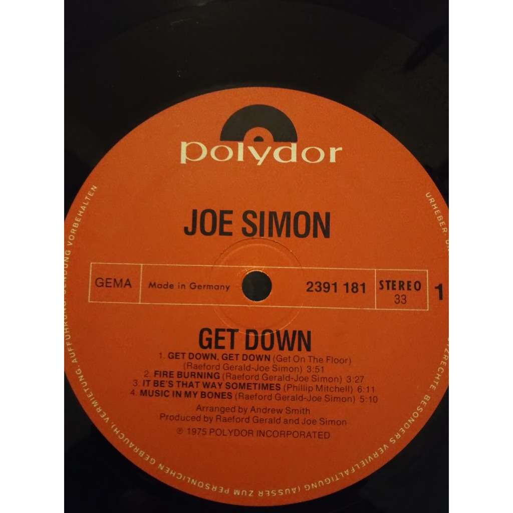 JOE SIMON Get Down