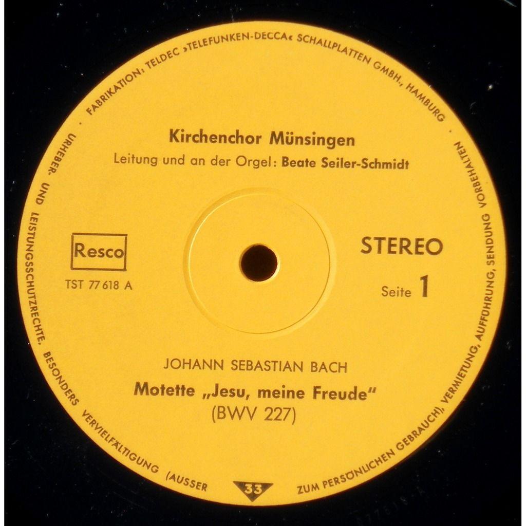 Kirchenchor Münsingen Beate Seiler-Schmidt Motetten : Johann Bach, JS Bach, Johann Nepomuk David
