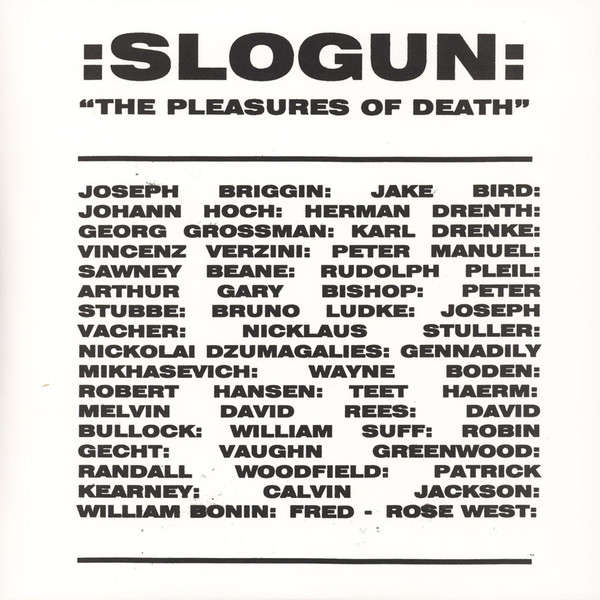 Slogun The Pleasures Of Death