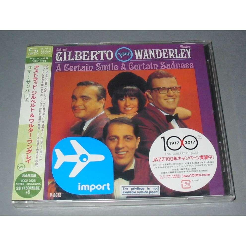 ASTRUD GILBERTO WALTER WANDERLEY A CERTAIN SMILE A CERTAIN SADNESS SHMCD JAPAN