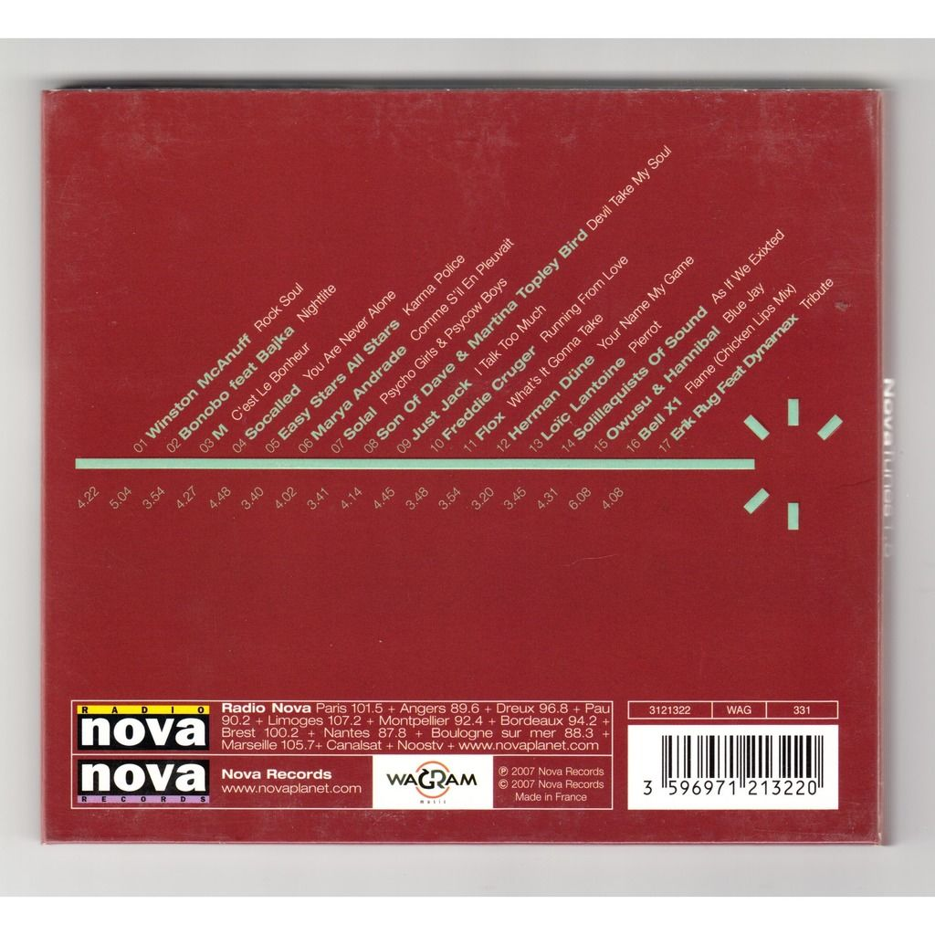 compilation . divers . various artists Nova Tunes 1.5