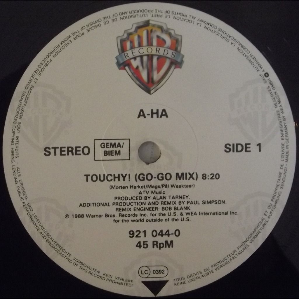 A-Ha touchy