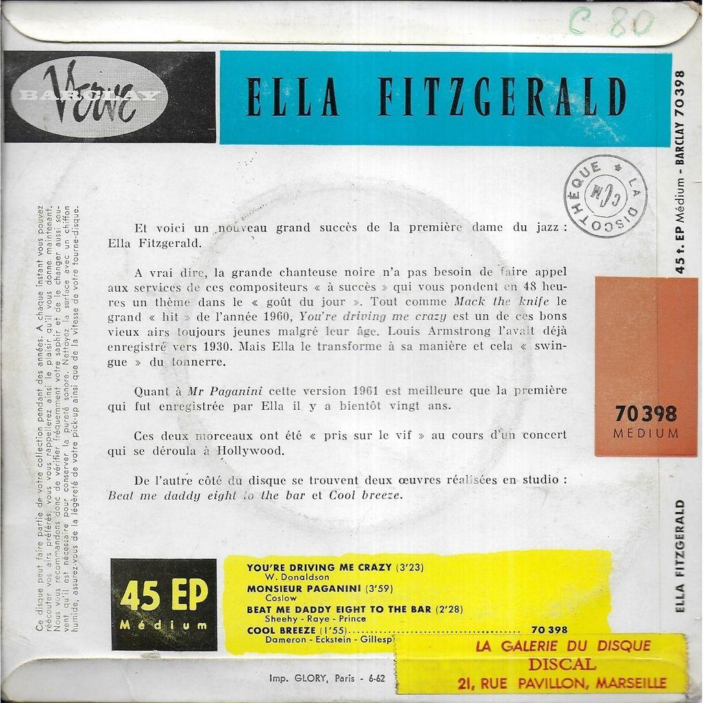 Ella FITZGERALD Monsieur Paganini