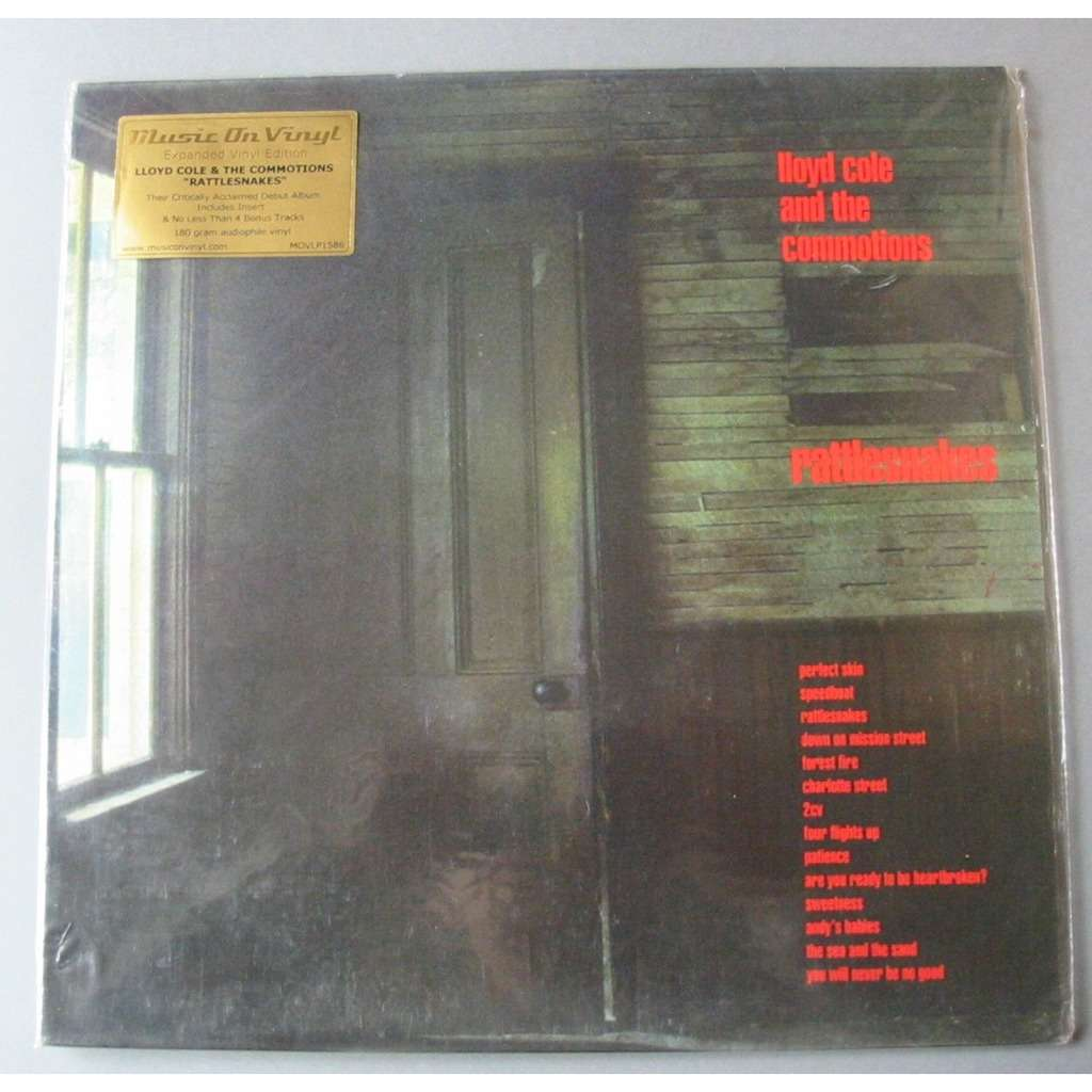 LLOYD COLE AND THE COMMOTIONS RATTLESNAKES EXPANDED EITION VINYL 180Gr 4 bonus tracks