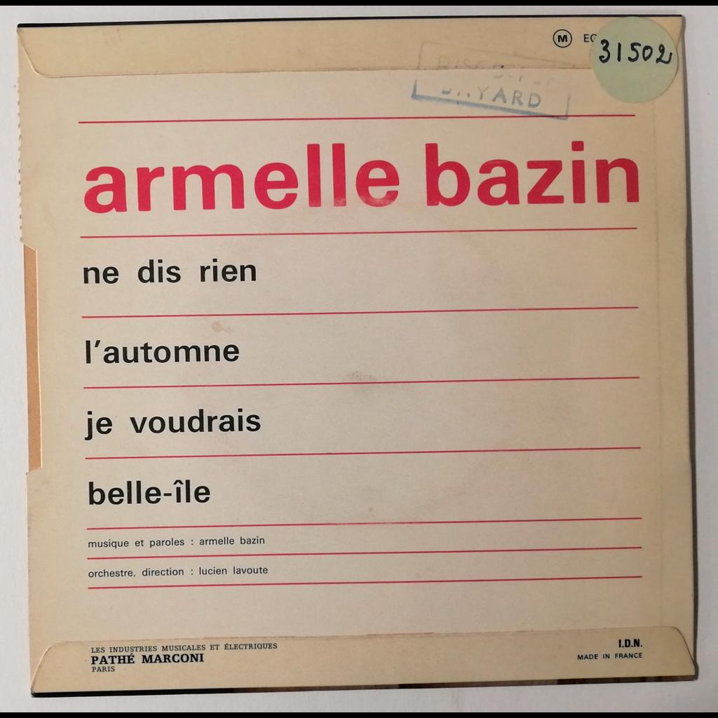 Armelle Bazin Ne Dis Rien +3