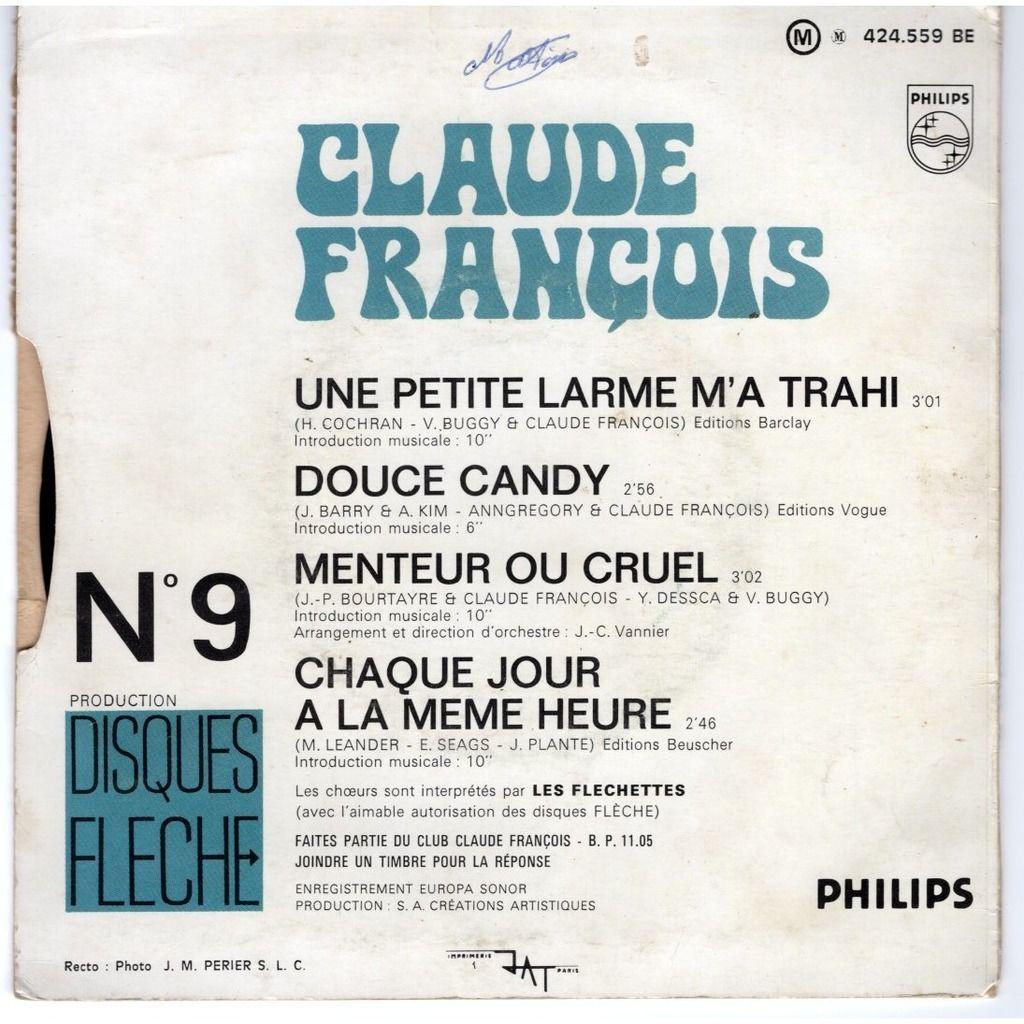 Claude François Une petite larme m'a trahi