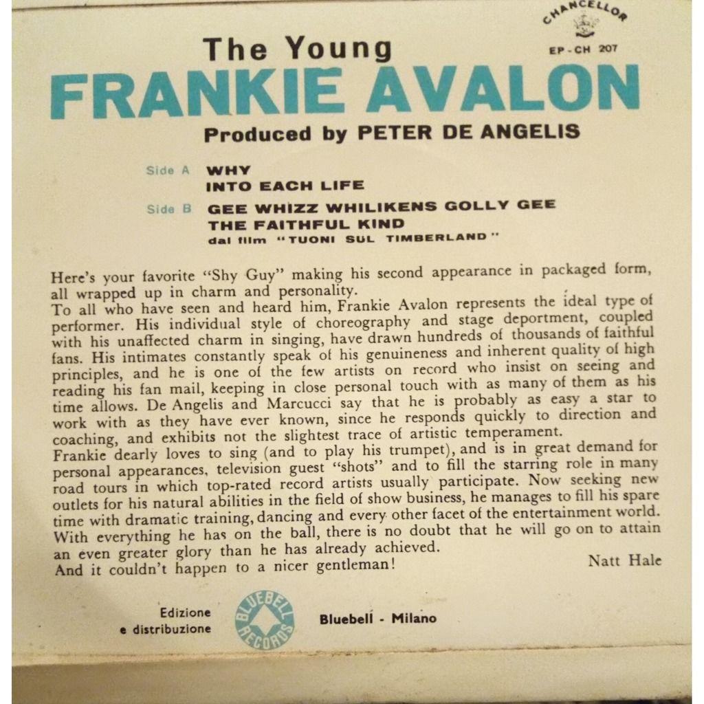 Frankie Avalon Why