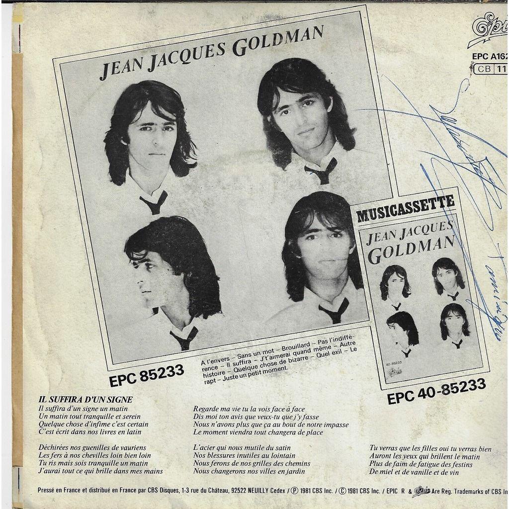 Goldman Jean-jacques il suffira d'un signe / quel exil