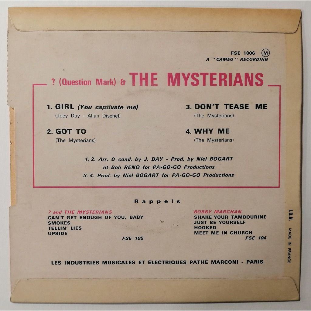 ? (Question Mark) & The Mysterians Girl +3
