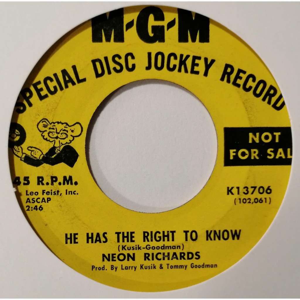 Neon Richards Bye Now (northern soul)