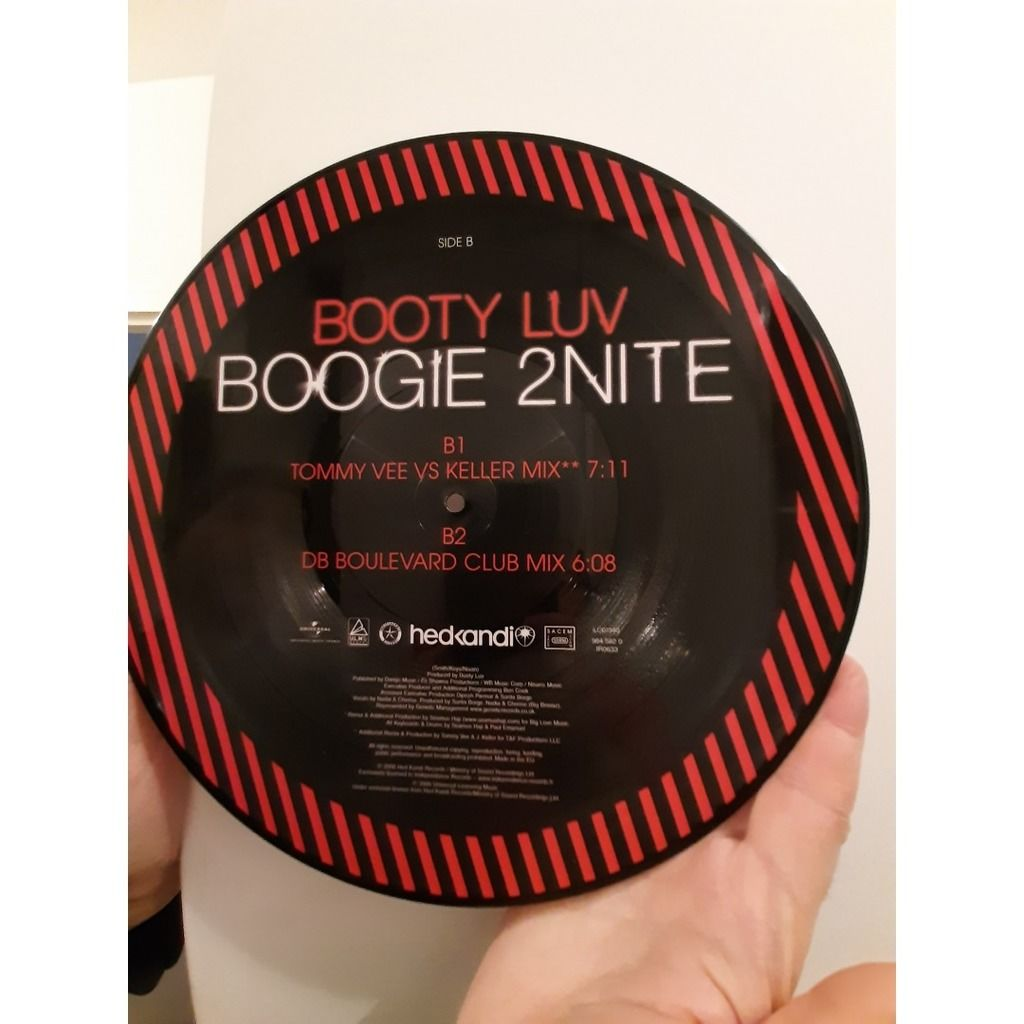 booty luv boogie 2 nite (PICTURE DISC )