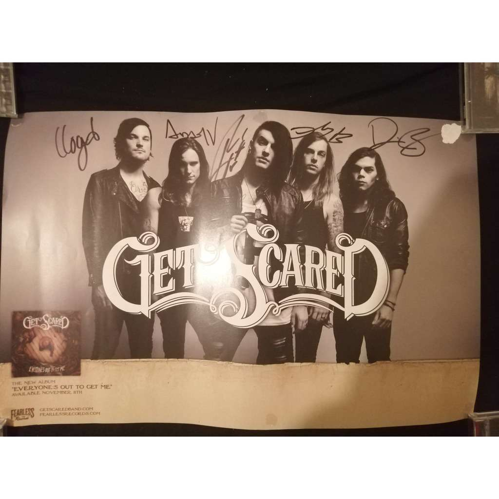 get scared a signed poster