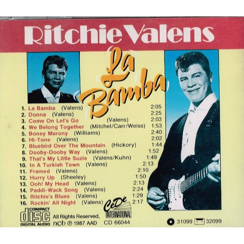 Ritchie Valens La Bamba , Donna , Come On Let's Go,