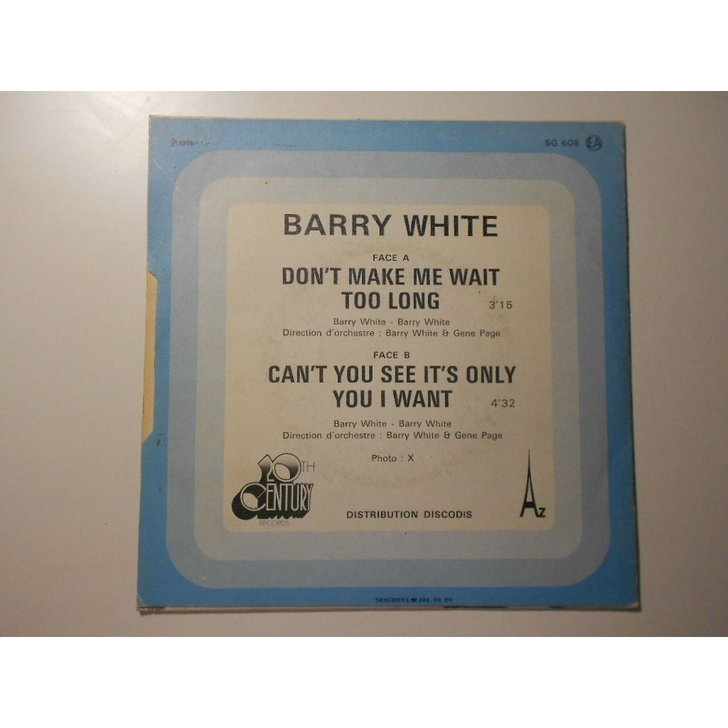 barry white don't make me wait too long § can't you see it's only you i want