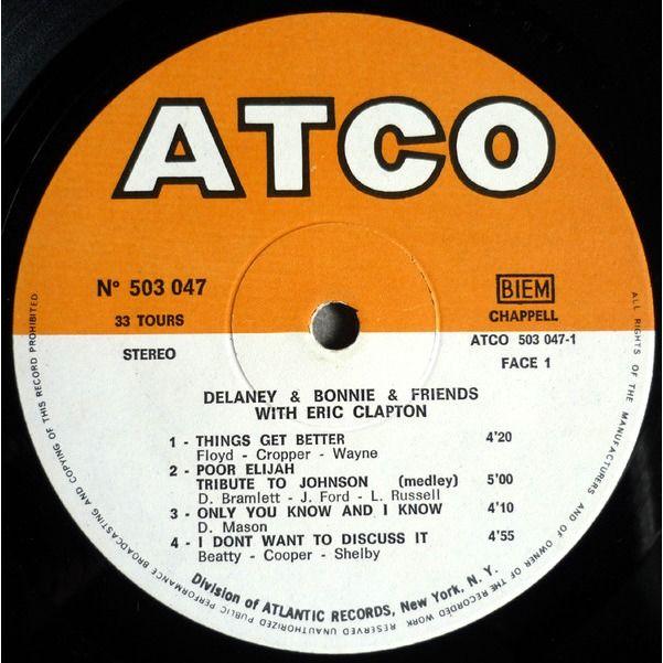 Delaney & Bonnie & Friends with Eric Clapton On Tour