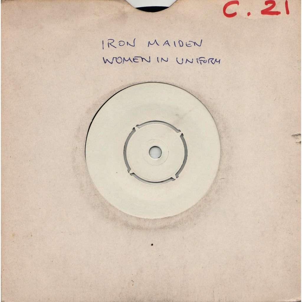 Iron Maiden Women In Uniform (UK 1980 original 2-trk w/label 7single TEST PRESSING hand-written blank slv!)
